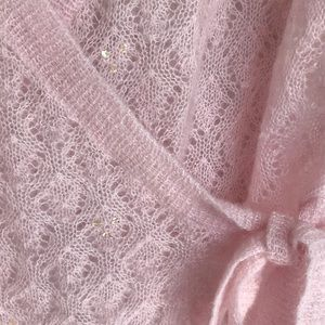 Ann Taylor Jackets & Coats - 🌸 Embroiled Pink sweater lightweight beautiful 🌸